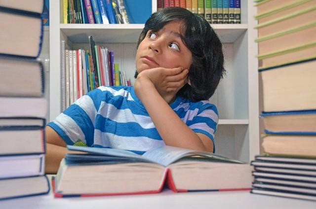 勉強している生徒